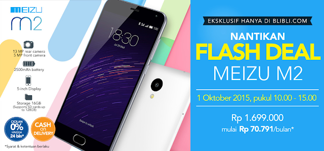 flash sale meizu m2 eksklusif di blibli.com