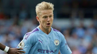 Man City Star Zinchenko Out for 5Weeks