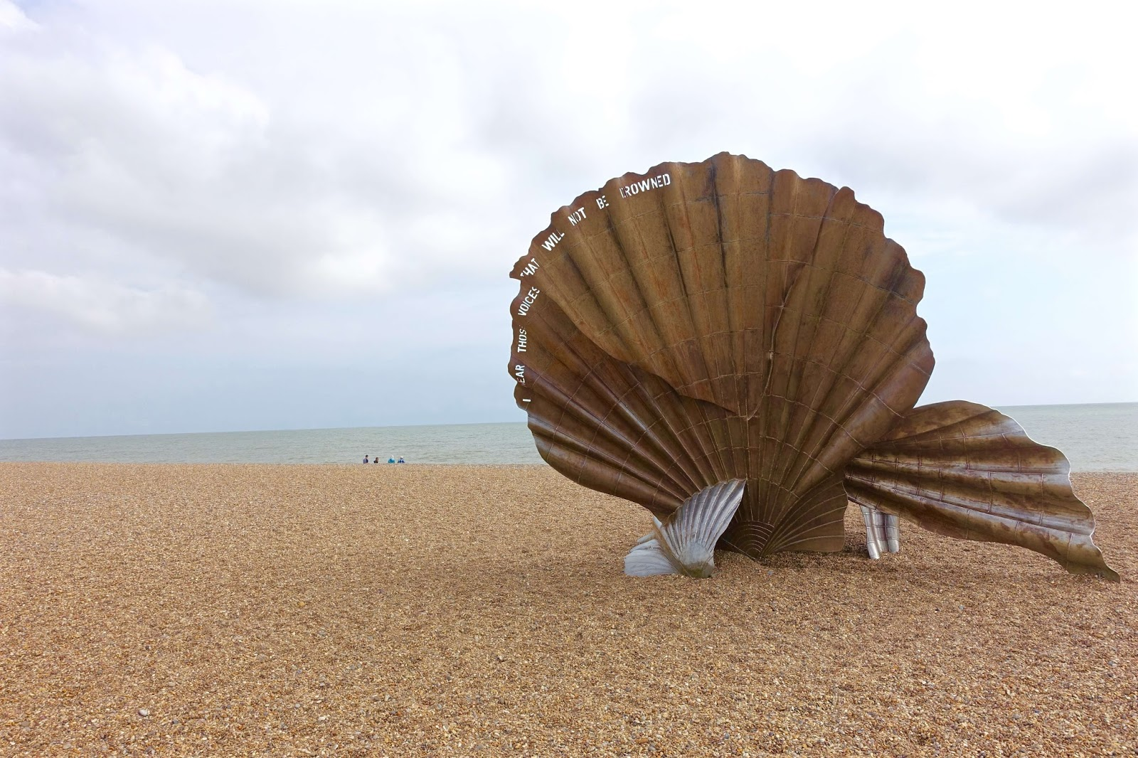 scallop sculpture on the way to thorpeness