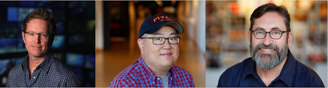 Andrew Stanton, Peter Sohn and Bob Peterson