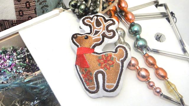 Елочная игрушка ручной работы Рождественский олень - доставка почтой или курьером. В единственном экземпляре