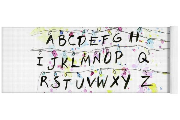 alphabet yoga mat