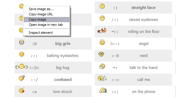 Use Yahoo! emoticons for Tumblr