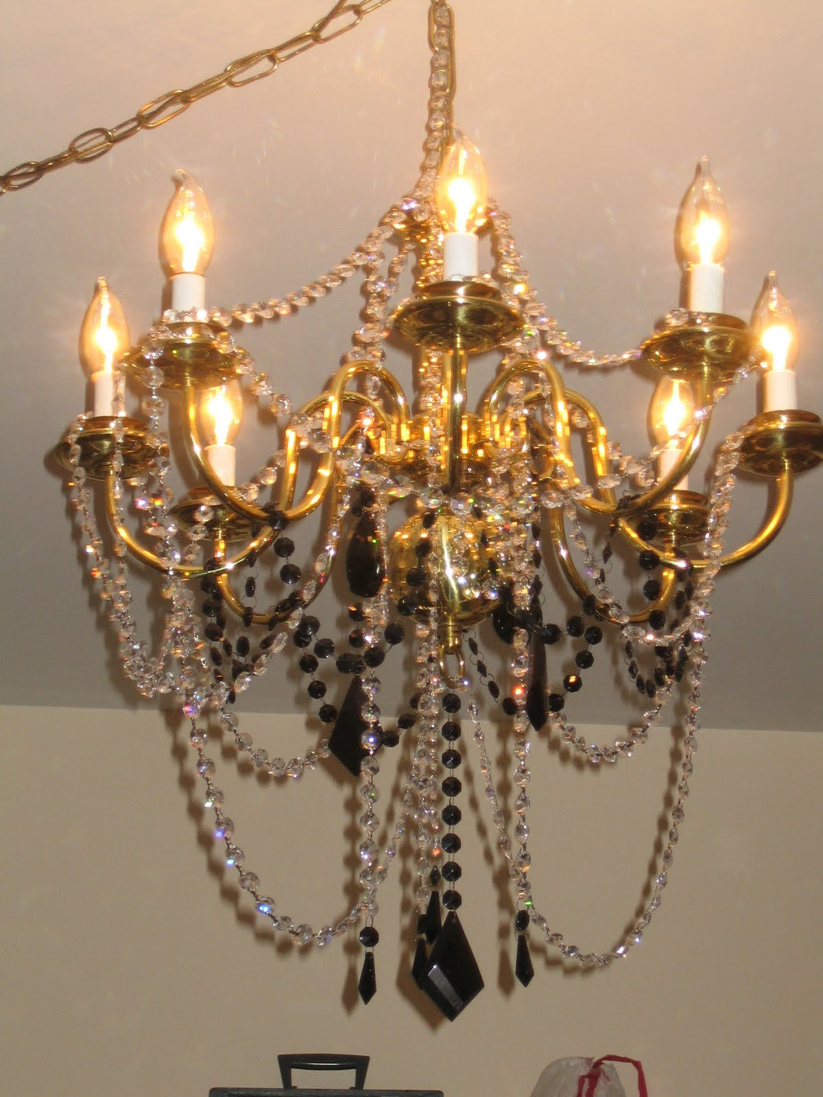 Chandelier Renovation Redo Crystal Bling
