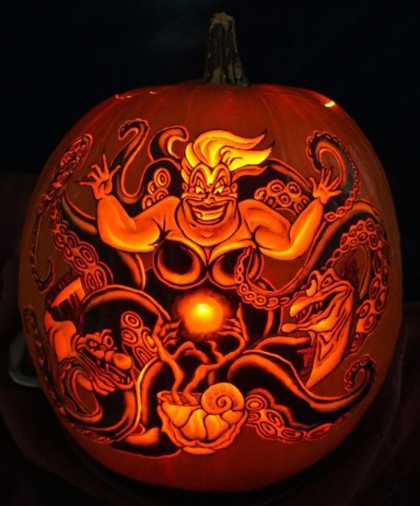 Cool Pumpkin carving - Disney