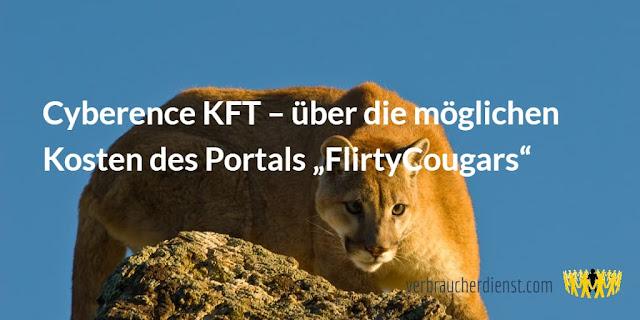 """Titel: Cyberence KFT – über die möglichen Kosten des Portals """"FlirtyCougars"""""""