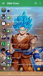 BBM MOD Goku Delta 3.7.0, BBM 3.0.1.25 Apk Terbaru 2016