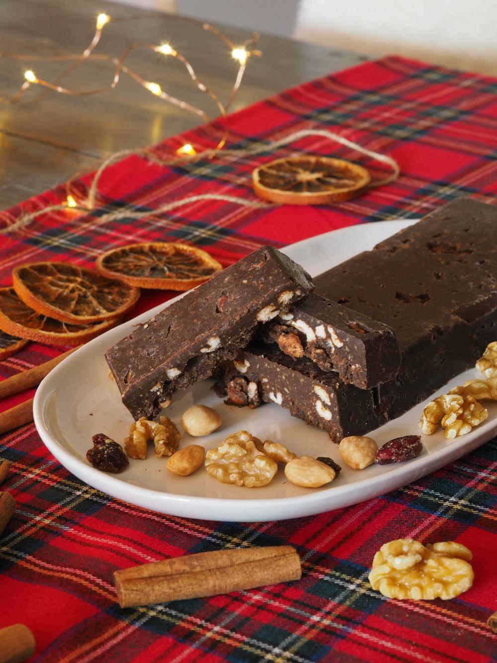 Turrón de chocolate casero sin azúcar3