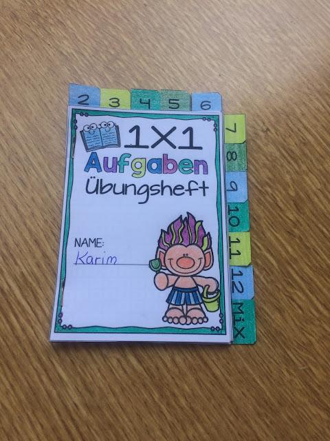 Deckblatt zum 1x1-Übungsheft für Grundschüler