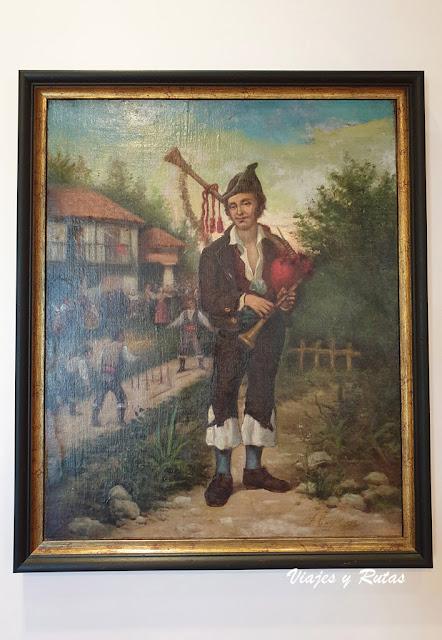 Cuadro original de El Gaitero, Villaviciosa