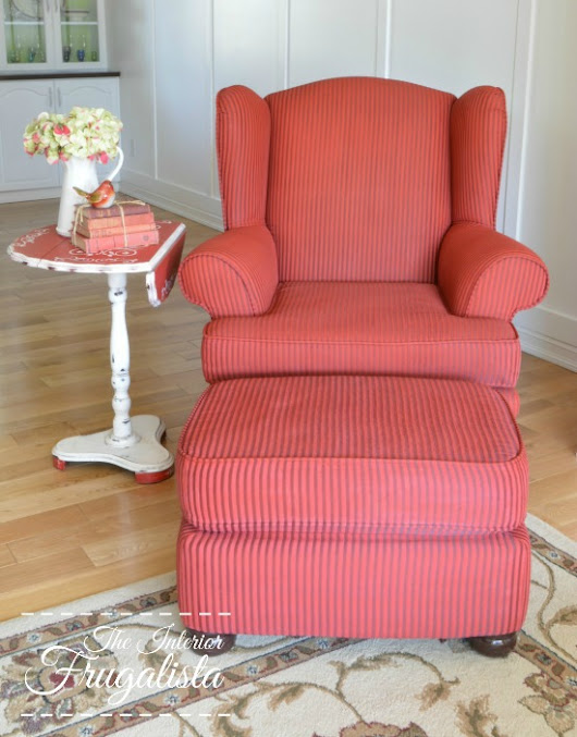 Change The Color NOT The Upholstery (A Painted Wing Chair)