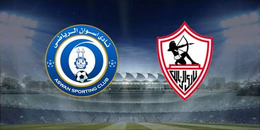 مباراة الزمالك واسوان بتاريخ 02-01-2020 الدوري المصري