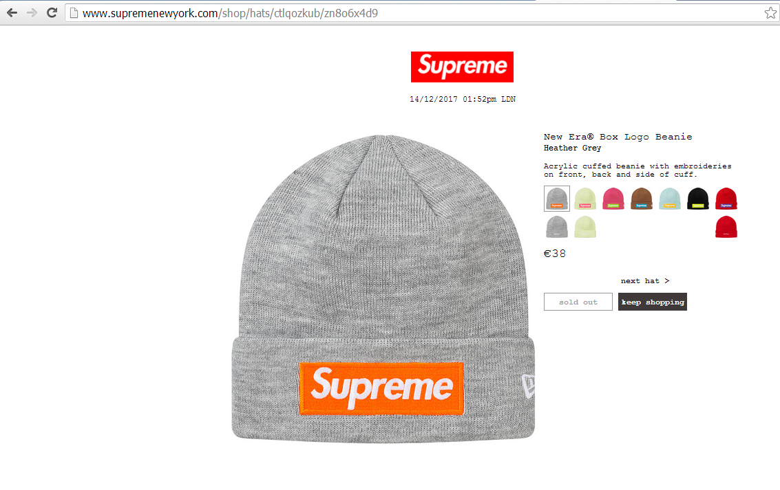 a67586236881b Supreme x New Era Box Logo Beanie