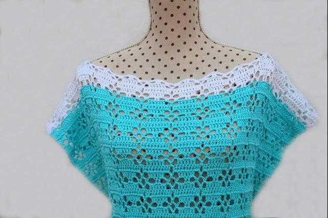 5 - Imagenes Crochet Blusa túnica playera a crochet facil sencilla paso a paso por Majovel Crochet