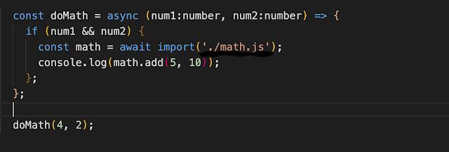 dynamic import in javascript