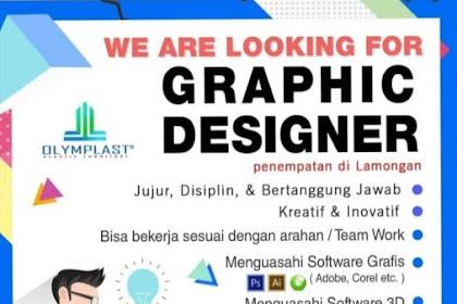 Info Lowongan Kerja Desain Grafis Olymplast Lamongan