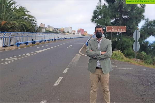 El Cabildo contrata las obras de repavimentación de la carretera del Norte entre La Galga y Los Sauces