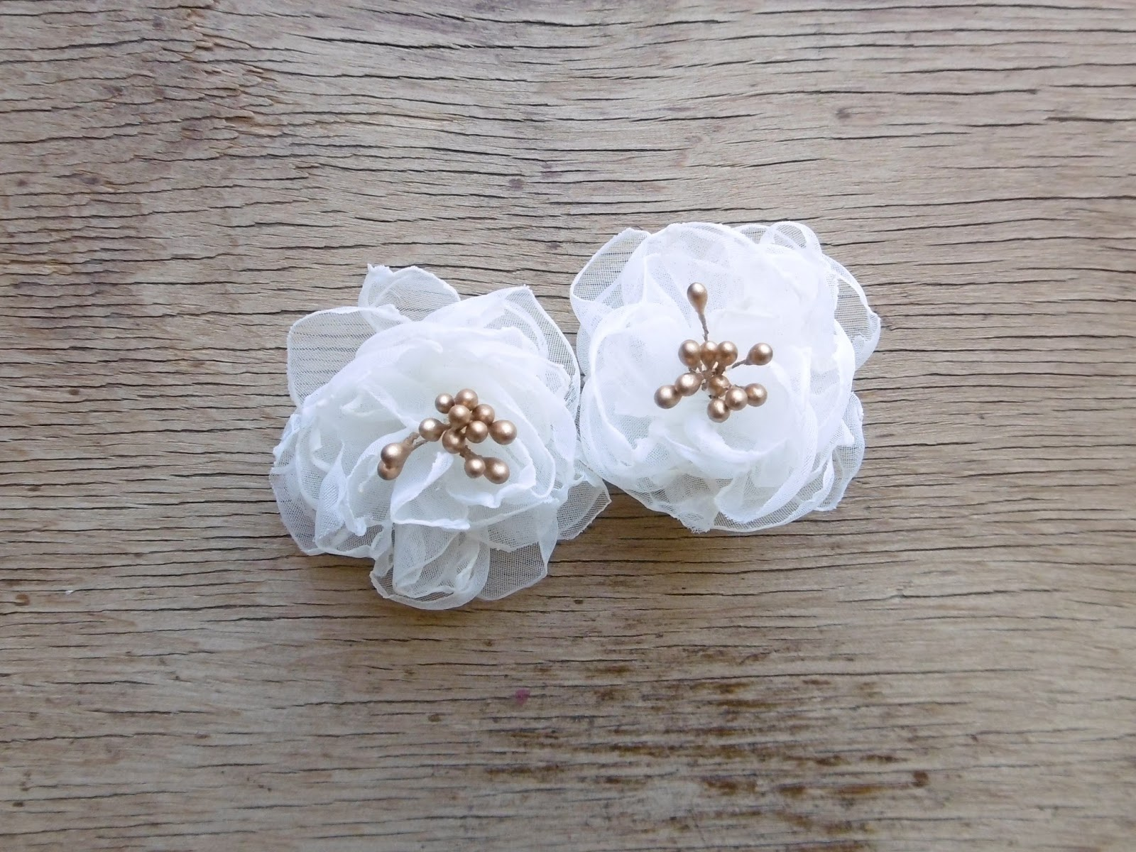 Oneperfectday Mini White Flower Hair Clips