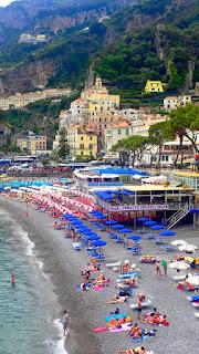 Amalfi Town Beach Amalfi Coast Italy Costiera Amalfitana