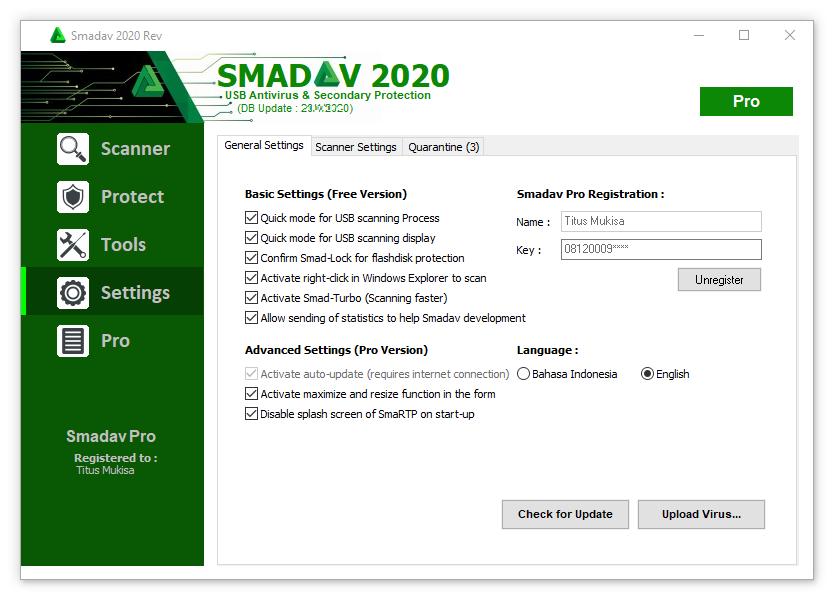 Smadav 2016 Serial Key Free