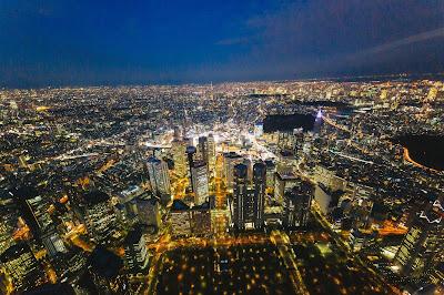 東京,新宿,夜景,俯瞰