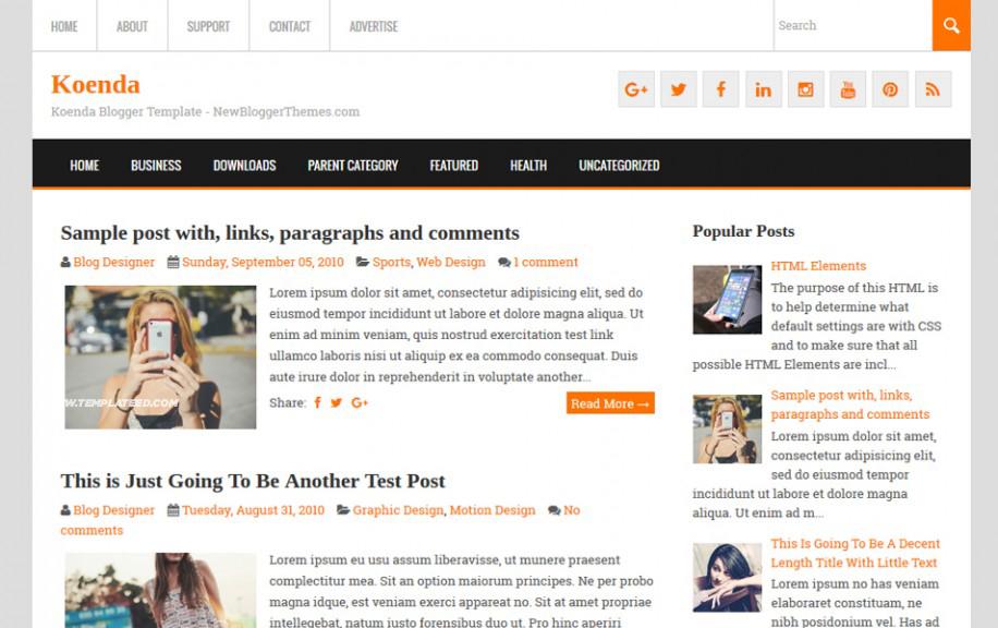 Personal Blog Blogger Templates