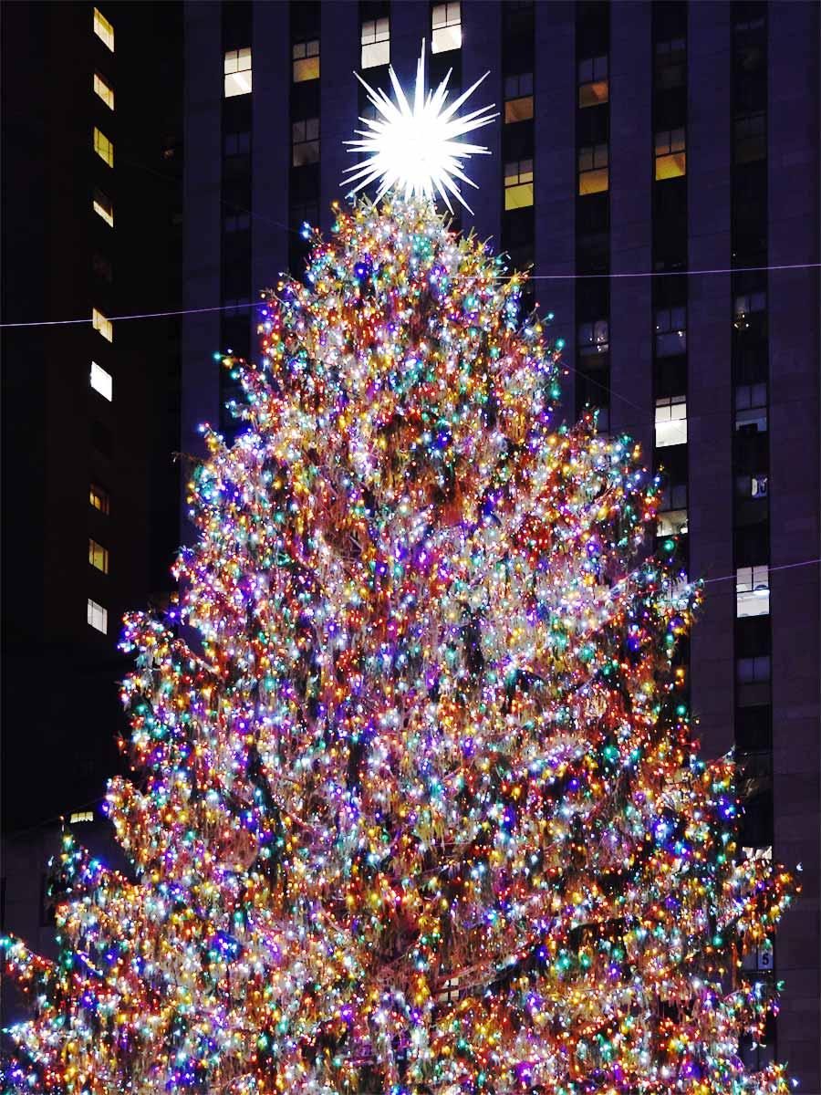NYC Rockefeller Center Christmas tree New York