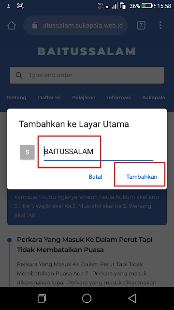 Silahkan dinamai dengan nama sekolah anak anda dan klik juga tambahkan