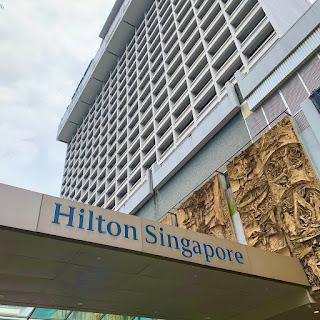 Hotel building of Hilton Singapore in Orchard Road