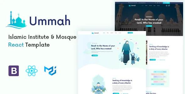 Best Islamic Center React Template