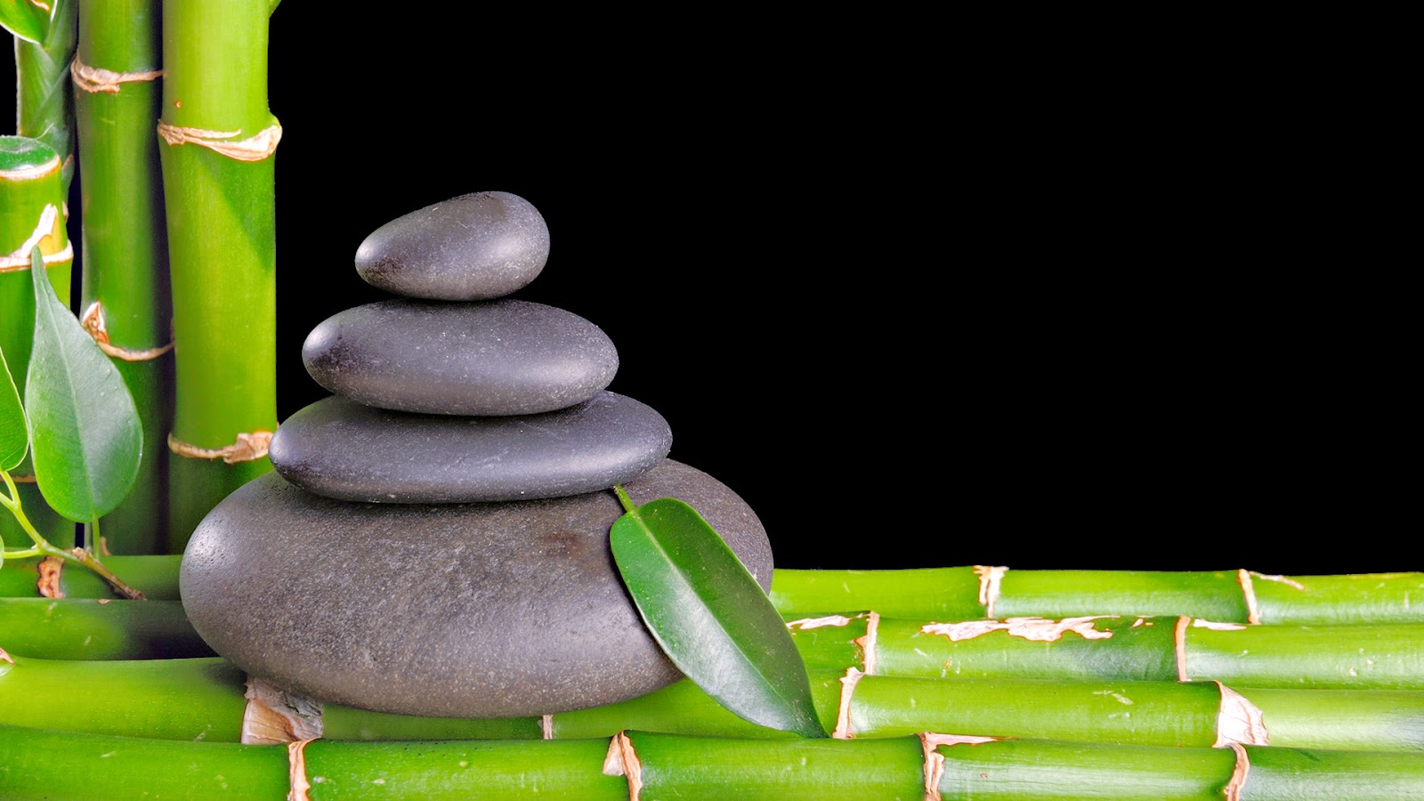Bamboo and zen stones wallpaper | Wallpaper Wide HD