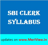 SBI Clerk Exam Pattern, Syllabus