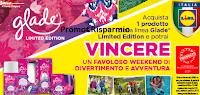 Logo Lidl e Glade :Vinci weekend nei parchi di divertimento