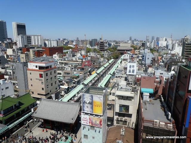 panorámica del templo sensoji en Tokio
