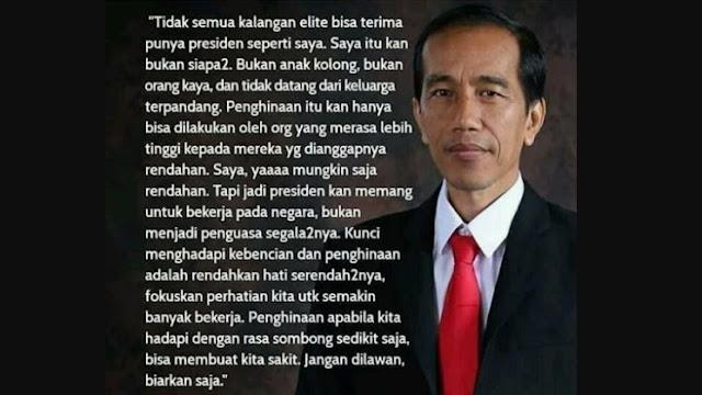 Curhat Jokowi: Tak Semua Kalangan Elite Terima Punya Presiden seperti Saya, Saya Bukan Anak Kolong