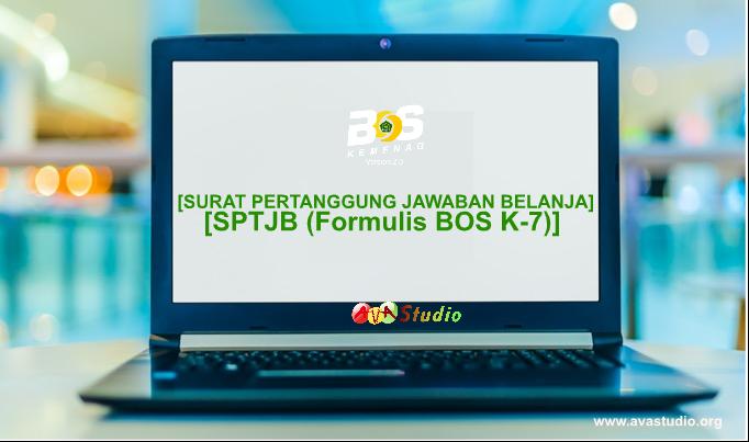 [Socx] Surat Pertanggung Jawaban Belanja (SPTJB) BOS Madrasah (Formulir BOS K-7) Tahun 2021