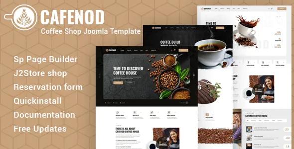 Best Coffee Shop Joomla Template