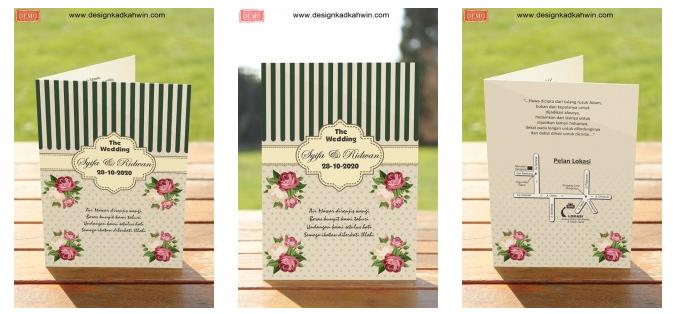 10 Template dengan hiasan kad kahwin elegan