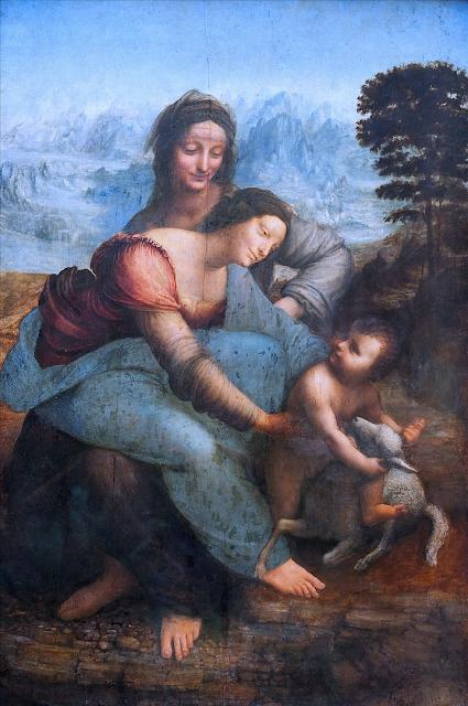 De Vinci met du bleu
