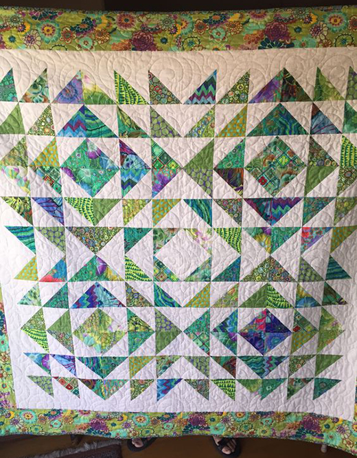 Tranquil Triangles Quilt by Lynn Shugrue, The Free Tutorial by Jenny of Missouri Quilt Co