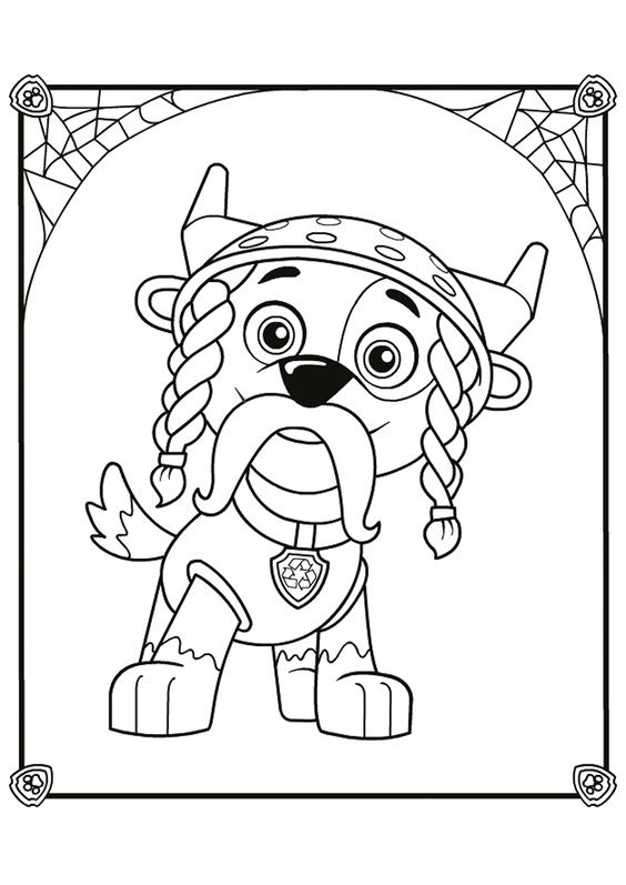 Paw patrol coloring pages 11