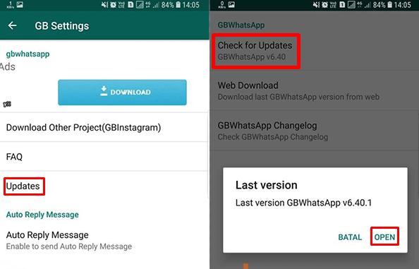 Update - Cara Memperbarui GBWhatsapp Mod Yang Kadalwarsa Ke Versi Terbaru