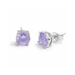 Purple Diamond Earrings