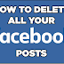 Delete All Facebook Posts