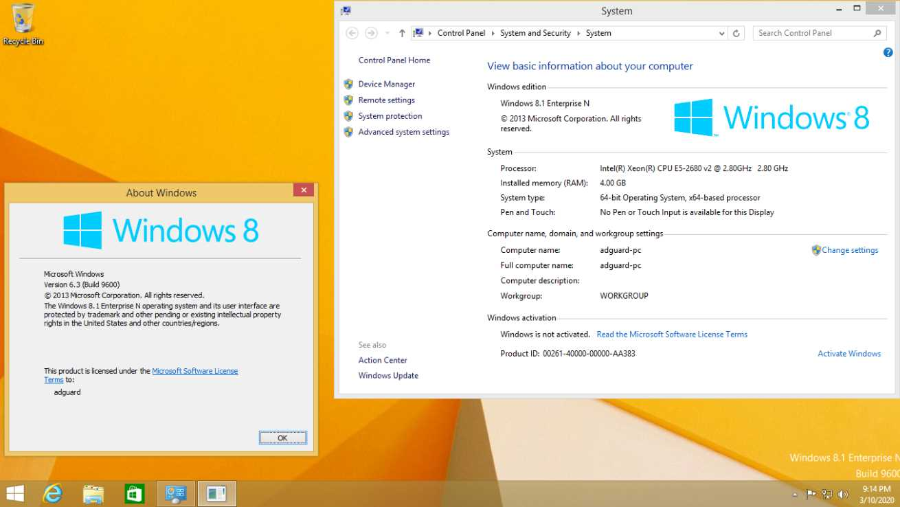 Windows 8.1 Build 9600.19652 AIO Marzo 2020