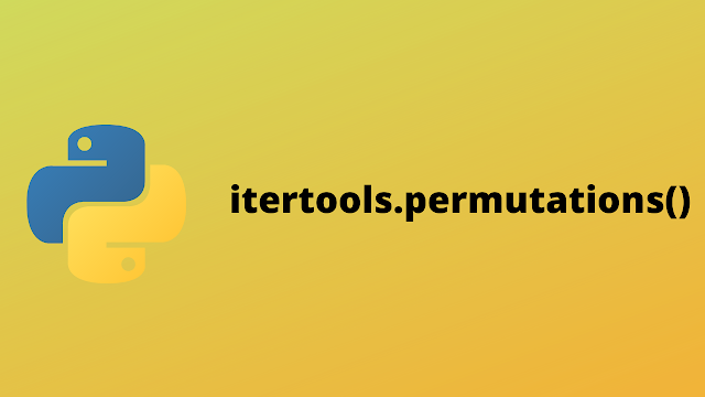 HackerRank itertools.permutations() solution in Python