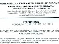 Rekrutmen Tenaga Kesehatan Nusantara Sehat Kementerian Kesehatan Tahun 2018