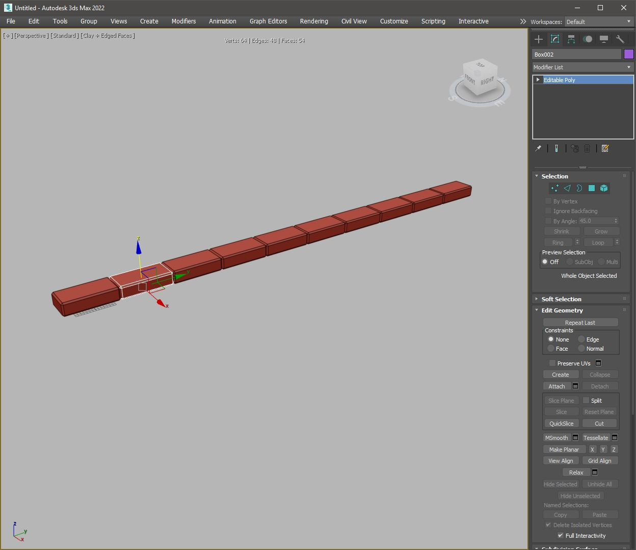 Array tool 3ds max result