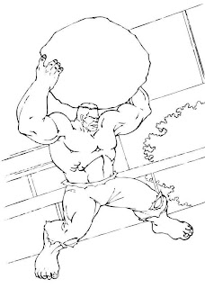 the incredible HULK the avengers uncolored picture