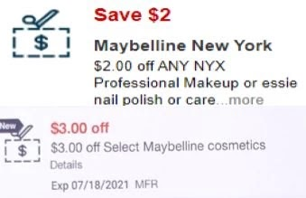 Maybelline CVS APP MFR Digital Coupon (go to CVS App)